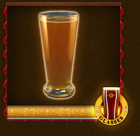 personalized fluted beer glass pilsner glass