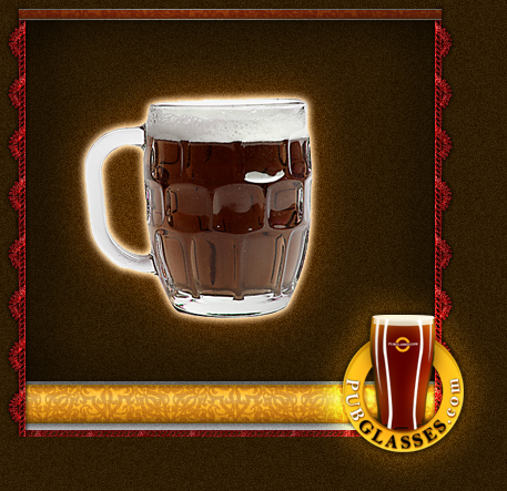 Customized Dimpled mug glass